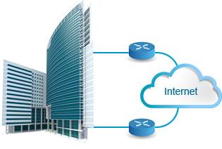 Redundant internet - Redundantie voor bedrijven waarbij verbindingsuitval onacceptabel is.