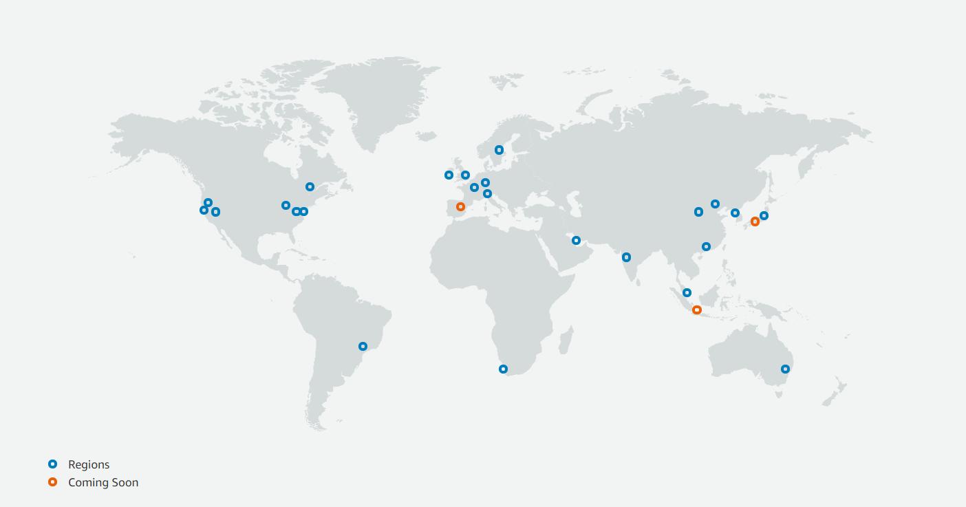 Beschikbaarheidszones Amazon Web Services AWS